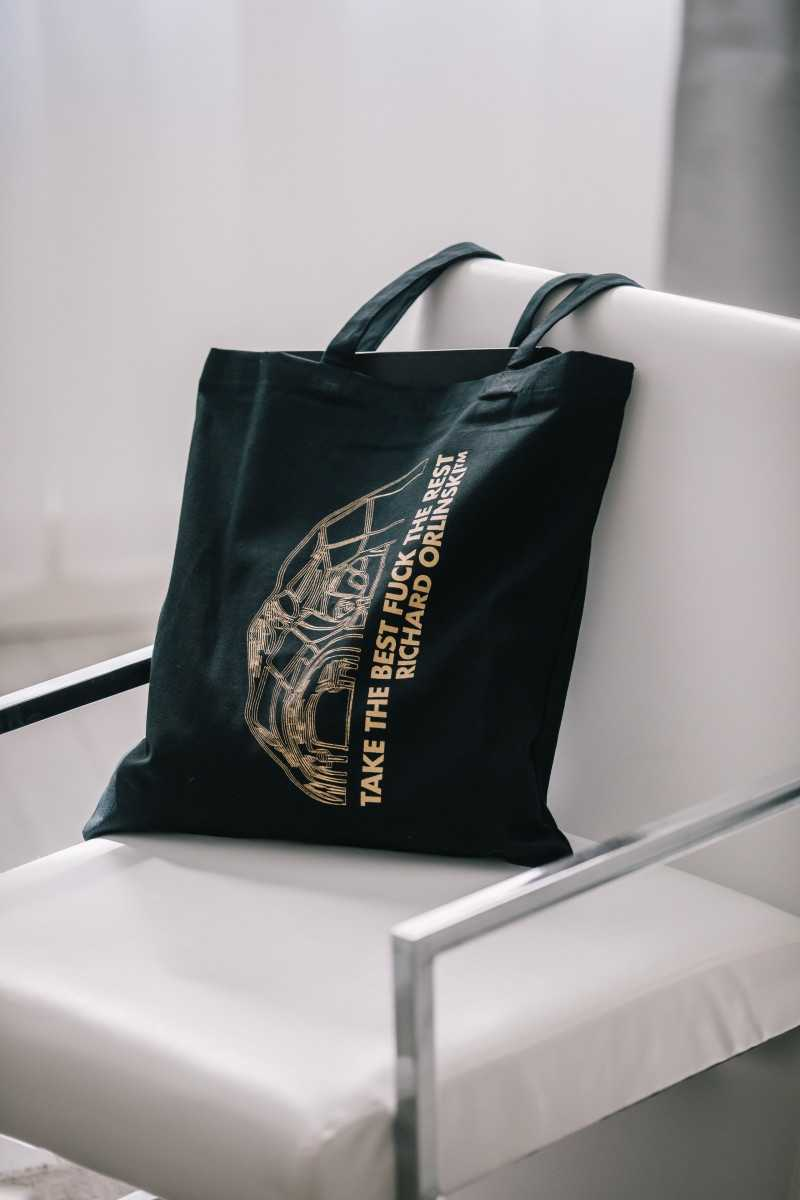 """GOLDEN TOTEBAG """"TAKE THE BEST FUCK THE REST"""""""
